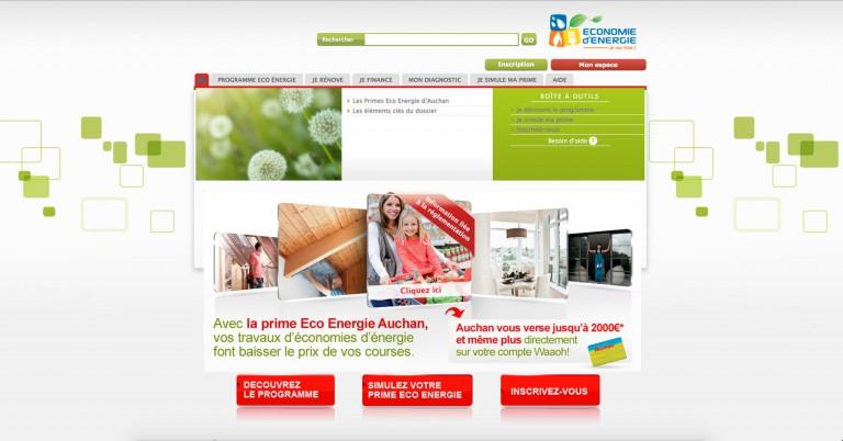 copie d'écran du projet Auchan-Economie-D-Energie