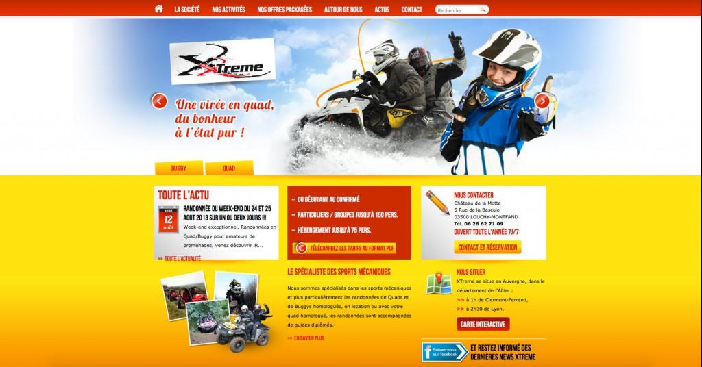 copie d'écran du projet xtrem-sports.fr