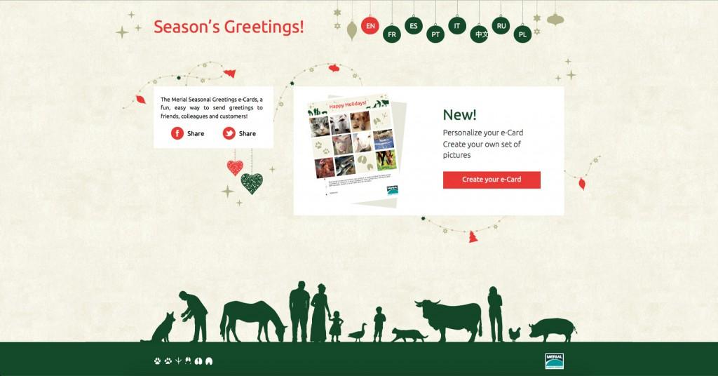 copie d'écran du projet Merial-seasons-greetings