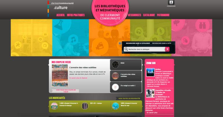 copie d'écran du projet ClermontComunaute-Blibliotheques