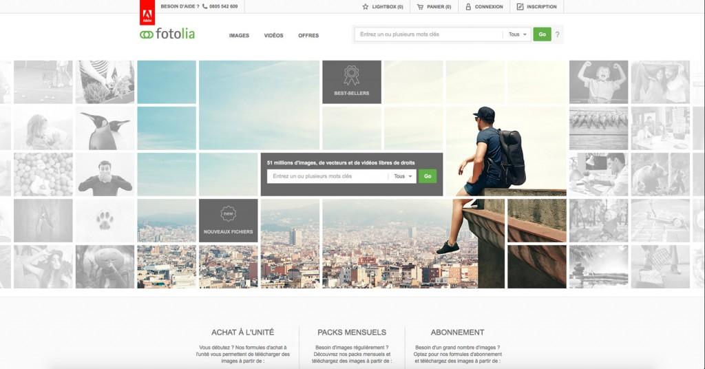 copie d'écran du projet Fotolia