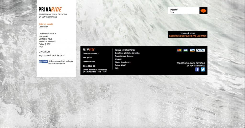 copie d'écran du projet Privaride.com