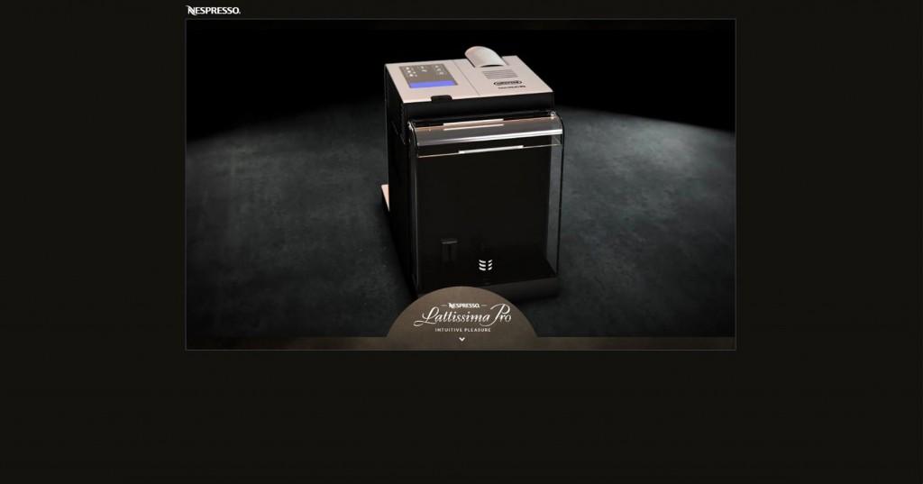 copie d'écran du projet nespresso-lattisima