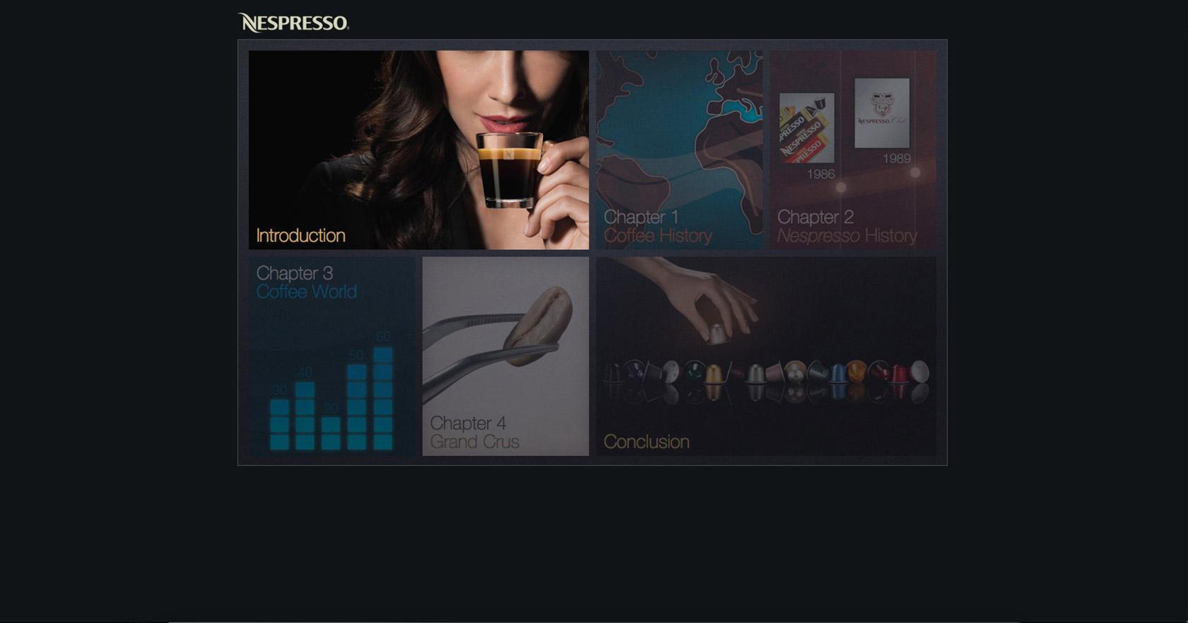 copie d'écran du projet nespresso-nouveaux-entrants